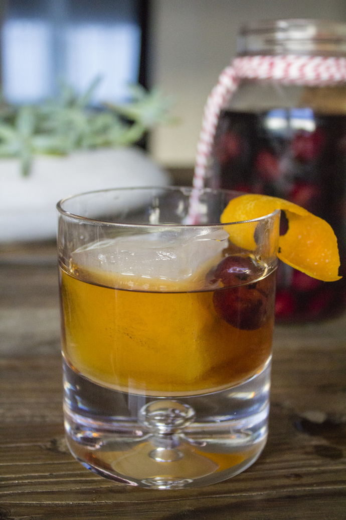 a bourbon soaked cherry for your Old Fashioned