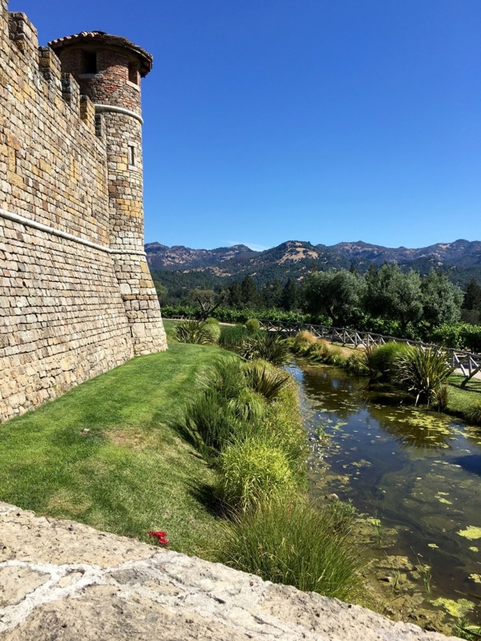 the moat, Castello Di Amorosa
