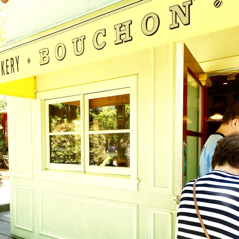 waiting in line at Bouchon Bakery